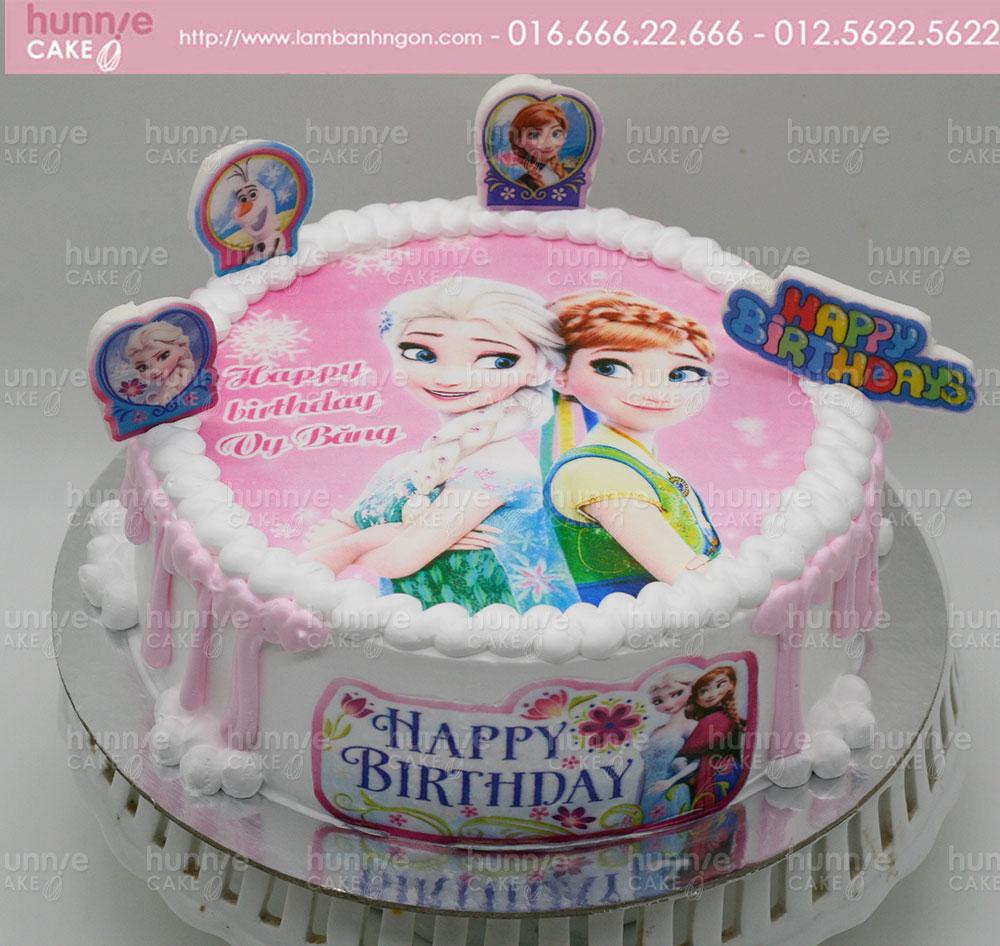Bánh gato sinh nhật Công Chúa Tuyết Elsa Công Chúa Anna từ Phim Nữ Hoàng Băng Giá [MS: 3862]