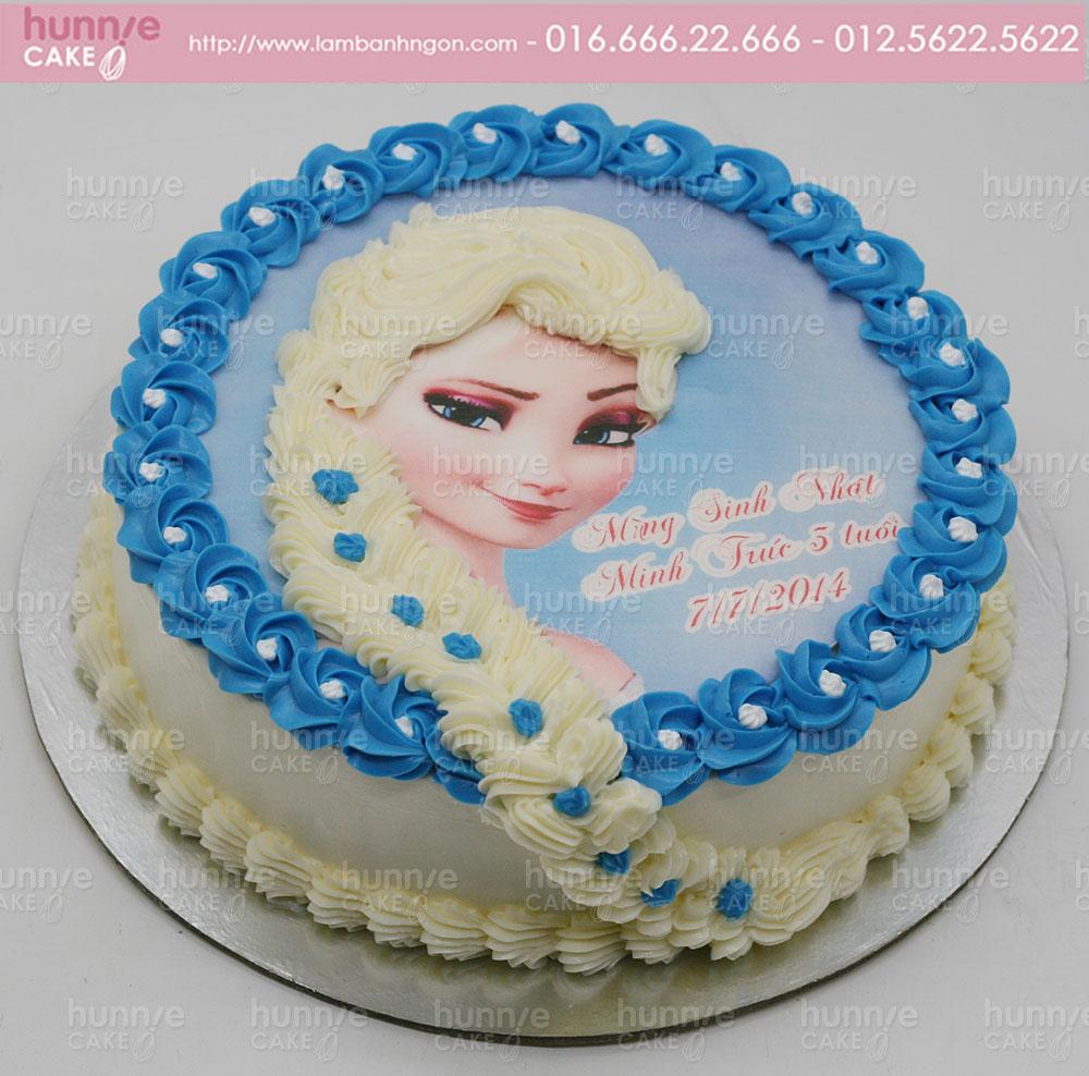 Bánh gato sinh nhật công chúa Elsa nữ hoàng băng giá 3855 - Bánh ngon đẹp