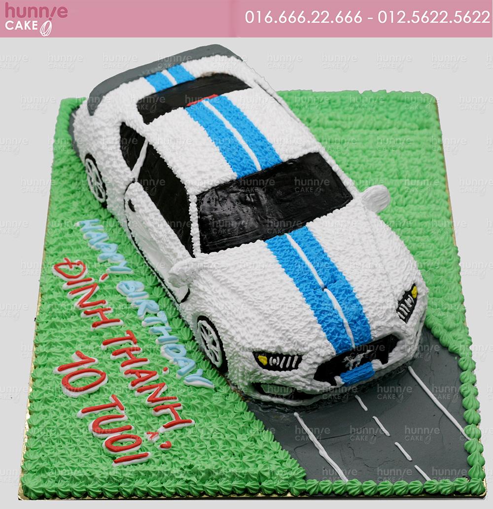 Bánh gato sinh nhật xe ô tô dựng hình nổi 3D xe oto Ford Mustang 4562