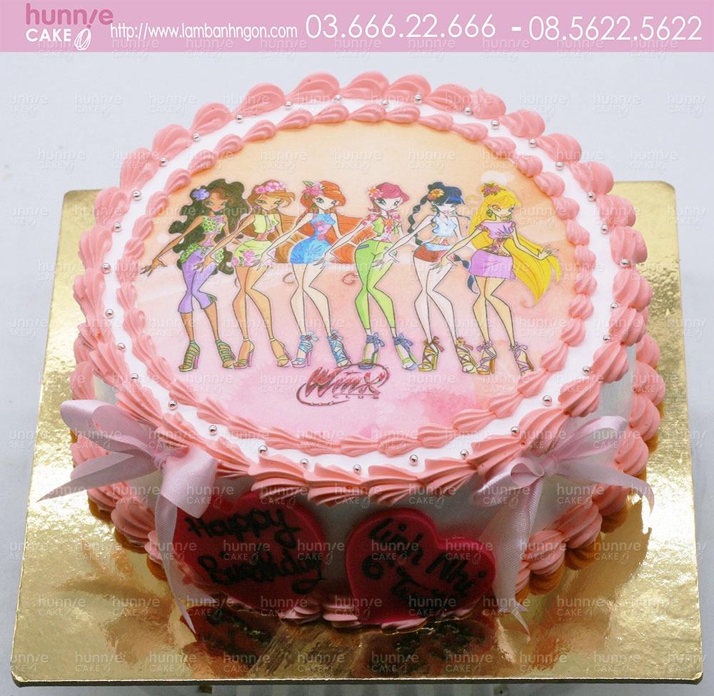 Bánh gato sinh nhật Winx - Công chúa phép thuật, sức mạnh những nàng tiên