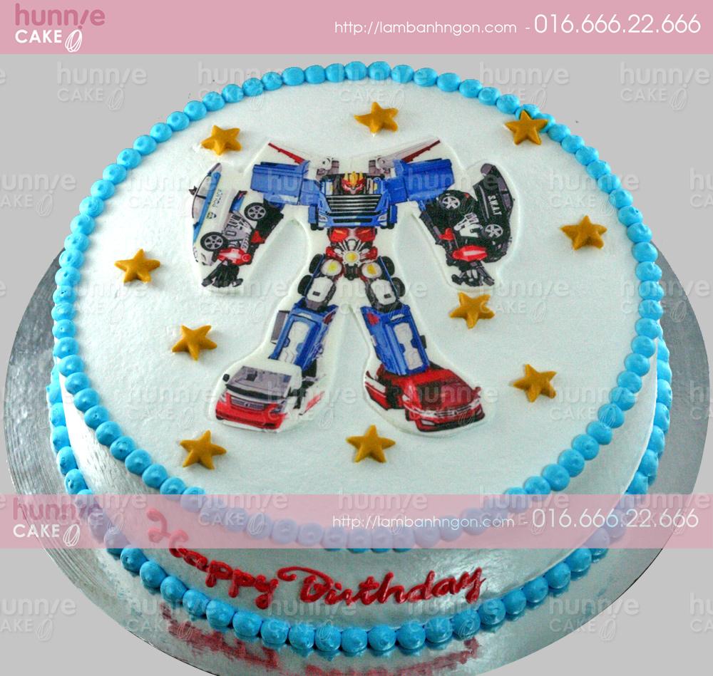 Bánh gato sinh nhật in ảnh hình Hello Carbot - Siêu nhân biến hình 3532 -