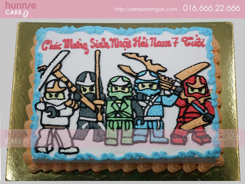 Bánh vẽ hình 5 anh em siêu nhân 2416 - Bánh ngon đẹp